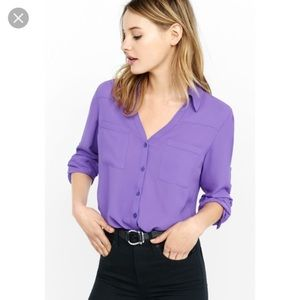 Express Portofino Shirt Purple